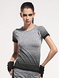 Running T-shirt / Sweatshirt / Tops Women's Short SleeveBreathable / Moisture Permeability / Quick Dry / Lightweight Materials /