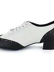 Aanpasbaar-Heren-Dance Schoenen(Zwart) - metBlokhak- enJazz / Modern