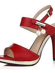 Women's Shoes Stiletto Heel Heels / Peep Toe / Platform Sandals Wedding / Party & Evening / Dress Red / White