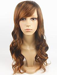 venta caliente de la peluca marrón clara europeo las mujeres rectas de la peluca sintética completa