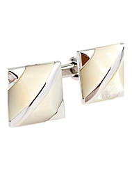 Men's Fashion Luxury Crystal Alloy French Shirt Cufflinks (1-Pair)