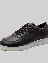 donne hanno portato scarpe usb carica scarpe da ginnastica di moda in similpelle esterna / atletica / nero casual / bianco