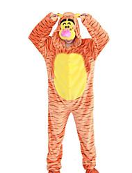 Kigurumi Pajamas Tiger Leotard/Onesie Festival/Holiday Animal Sleepwear Halloween Orange Animal Print Patchwork Polar Fleece Kigurumi For