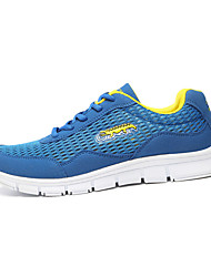 Homme-Décontracté-Bleu / Blanc / Gris-Talon Plat-Confort-Sneakers-Tulle