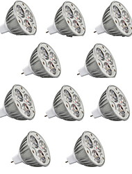 10pcs HRY® 9W MR16 900LM Warm/Cool Light Lamp LED Spot Lights(12V)