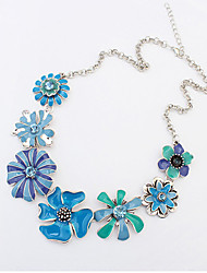Women's Pendant Necklaces Alloy Flower Sunflower Fashion Orange Blue Jewelry Party Daily Casual 1pc