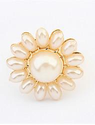Ringe Damen / Herren / Paar / Unisex Künstliche Perle Legierung Legierung Verstellbar Gold