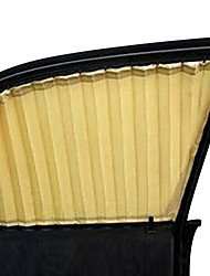 2 pcs bege janela do carro cortina pára-sol tecelagem plana roupas de proteção UV tipo