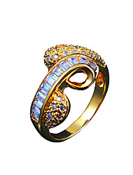 Wholesale lady real zircon inlay wedding band ring