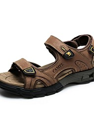 Camel Men's Nubuck Non-slip Durable Summer Beach Sandals Color Khaki/Brown