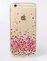 Pour Coque iPhone 7 Coques iPhone 7 Plus Coque iPhone 6 Coques iPhone 6 Plus Ultrafine Transparente Motif Coque Coque Arrière Coque Cœur