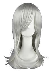 Pelucas de Cosplay Maria Holic Shinjirō Kurama Plata Mediano Animé Pelucas de Cosplay 55 CM Fibra resistente al calor Hombre / Mujer