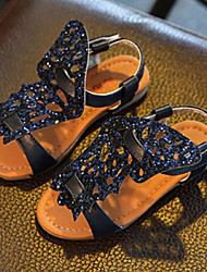 Girl's Sandals Summer Glitter Dress Blue Silver Gold