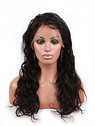 Indian Human Virgin Hair Front Lace Wig 130% Density Natural Color Long Body Wave Lace Wigs