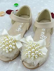 Girl's Summer Comfort / Round Toe / Sandals Microfibre Outdoor Flat Heel Pink / Ivory