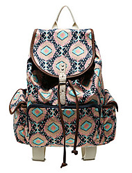 Geometric Geometric Pattern Casual Canvas Travel School College Backpack/Bookbags/Daypack for Teenage Girls/students