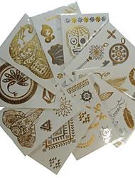 10pcs diferente colar estilo do tatuagem w-3 de uma série