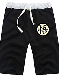 Inspired by Dragon Ball Goku Anime Cosplay Costumes Cosplay Tops/Bottoms Solid Black / Gray Shorts