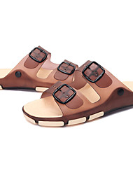 Men's Sandals Spring / Summer / Fall Comfort / Jelly Silicone Casual Flat Heel Others Blue / Brown Walking