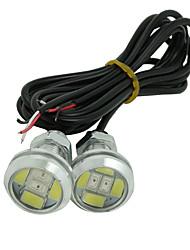 10x White+RED DC12V 9W Eagle Eye LED Daytime Running DRL Backup Light Car Auto Lamp