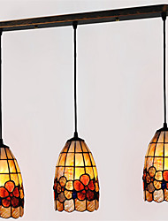 5 inch 3-lights Retro Tiffany Pendant Lights Shell Shade Living Room Dining Room light Fixture