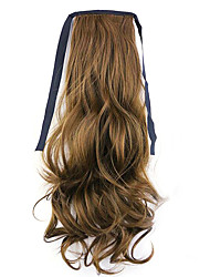 Flaxen Length 50CM Factory Direct Sale Bind Type Curl Horsetail Hair Ponytail(Color 12)