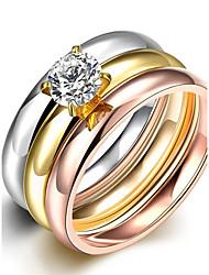 Кольцо Классические кольца Массивные кольца Цирконий Кисточки Мода Богемия Стиль Панк Регулируется обожаемый Pоскошные ювелирные изделия