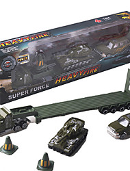 Dibang - children's toys Alloy car simulation military model toy car stall selling toys (4PCS)