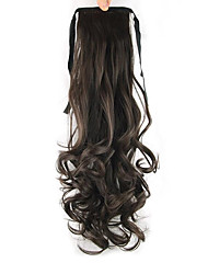 Length Dark Chocolate Wig Ponytail 55CM Synthetic Pearvolume High Temperature Wire Color 6