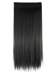 peruca de cabelo em linha reta extensão do cabelo sintético 60 centímetros de alta temperatura comprimento do fio preto