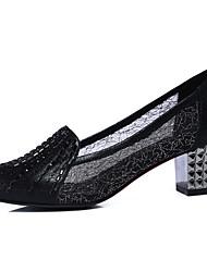 Women's Shoes Synthetic Low Heel Heels / Comfort Heels Office & Career / Party & Evening / Dress Black / Silver