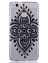 For Huawei Case Transparent Case Back Cover Case Mandala Soft TPU Huawei