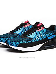 Women's Spring Comfort Tulle Athletic Flat Heel Black / Royal Blue