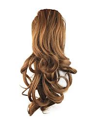 comprimento castanho dourado peruca sintética 36 centímetros encaracolado alta temperatura fio de empate tipo de contrato cor cavalinha