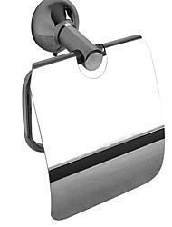 The bathroom toilet paper holder polished stainless steel light