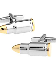 Men's Fashion Bullet Style Silver Alloy French Shirt Cufflinks (1-Pair) Christmas Gifts