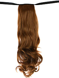 Wig Brown 50CM High-Temperature Wire Strap Style Long Hair Ponytail Colour 6A