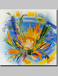 Large Hand Painted Modern Abstract Flower Oil Painting On Canvas Wall Art Picture With Stretched Frame Ready To Hang