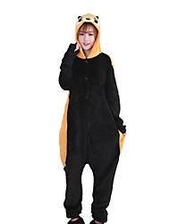 Kigurumi Pyjamas Bär / Waschbär Gymnastikanzug/Einteiler Halloween Tiernachtwäsche Schwarz Patchwork Korallenfleece Kigurumi Unisex