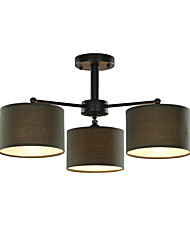 3 Light 23 inch Ceiling Light Fixture, Black And White