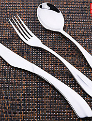 Stainless Steel 304 Set Spoons / Forks / Knives 3-piece