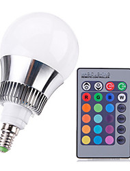 9W E14 LED-pallolamput A50 Teho-LED 650-1000 lm RGB Himmennettävä / Kauko-ohjattava AC 220-240 V 1 kpl