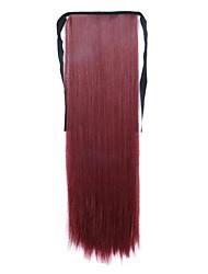 longue prêle perruque de cheveux raides rouge longueur 60cm type de liaison synthétique (bug de couleur)