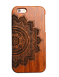 Per Custodia iPhone 6 Custodia iPhone 6 Plus Custodie cover Decorazioni in rilievo Custodia posteriore Custodia Simil-legno Resistente