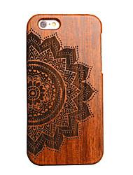 Pour Coque iPhone 5 Relief Coque Coque Arrière Coque Mandala Dur Bois pour Apple iPhone SE/5s/5