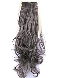 Black Length 50CM Factory Direct Sale Bind Type Curl Horsetail Hair Ponytail(Color 33/613)