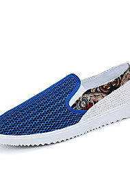 Men's Loafers & Slip-Ons Spring / Fall Comfort PU Casual Flat Heel Slip-on Blue / Green Others