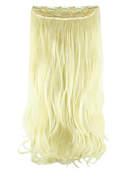 Length White Gold 60CM High Hemperature Wire Wig Hair Extension Synthetic Hair