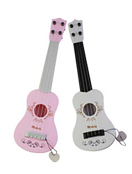 Plastic Blue/Pink/White Simulation Child Guitar for Children Above 3 Musical Instruments Toy