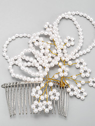 Women's / Flower Girl's Alloy / Imitation Pearl Headpiece-Wedding / Special Occasion Hair Combs 1 Piece